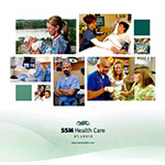 SSM Health Care Location and Capabilities Binder - Binder holding 8 hospital and 13 Service Line Information Sheets