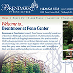 Brentmoor at Penn Center - Website Development and Print Collateral
