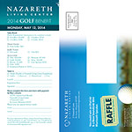 Nazareth Living Center - Golf - Invitation
